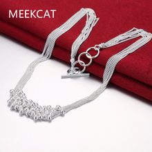 Exquisite Seed Beads Pendant Necklace Wholesale Newest Fashion Multi Thin Chain Collar Silver Plated Necklace Choker Jewelry(China)