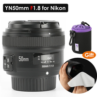 YONGNUO YN50MM F1.8 Large Aperture Auto Focus Lens full frame as AF S 50mm f1.8 for Nikon D3300 D5300 D5100 D750 Camera DSLR
