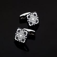 XK426 High high quality French males shirts Cufflinks flower Cufflinks Wedding Accessories glazed craft model