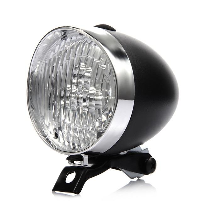 Retro Bicycle Bike 3 LED Front Light Headlight Vintage Flashlight Lamp New FZ