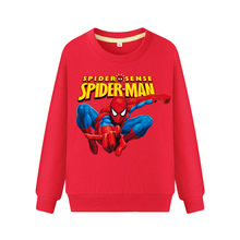 Boy Girls Spring Autumn Long Sleeve Hoodies Clothes Children Thin Tops Clothing Kids Spiderman Sweatshirt Costume For Baby WK056(China)