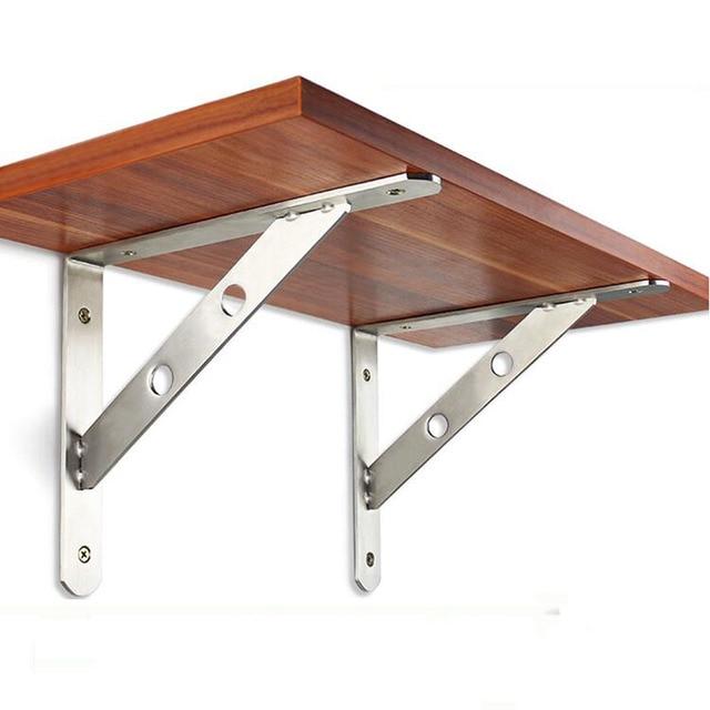 Stainless steel triangular support Wooden shelf bracket
