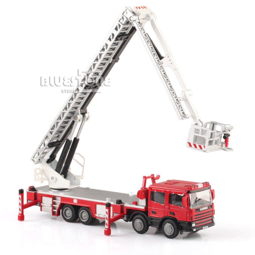 KDW 1:50 échelle moulé sous pression aérien camion de pompier voiture de Construction modèles jouets