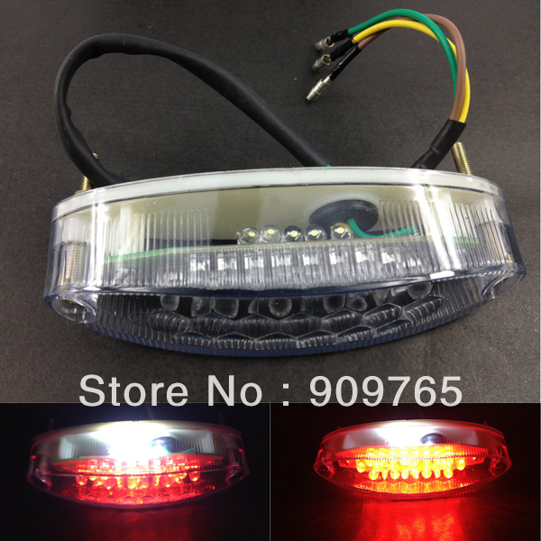 Free shipping 1 Pcs UNIVERSAL MOTORCYCLE Clear White 28 LED REAR TAIL STOP BRAKE NUMBER PLATE LIGHT
