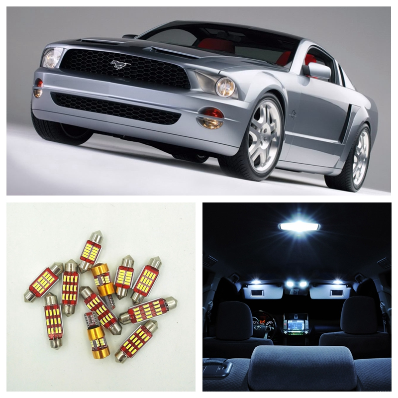 10pcs Xenon White Canbus LED Light Bulbs Interior Package Kit For Ford Mustang 1994-2004 Map Dome License Plate Light Ford-C-17 shanghai chun shu chunz chun leveled kp1000a 1600v convex plate scr thyristors package mail