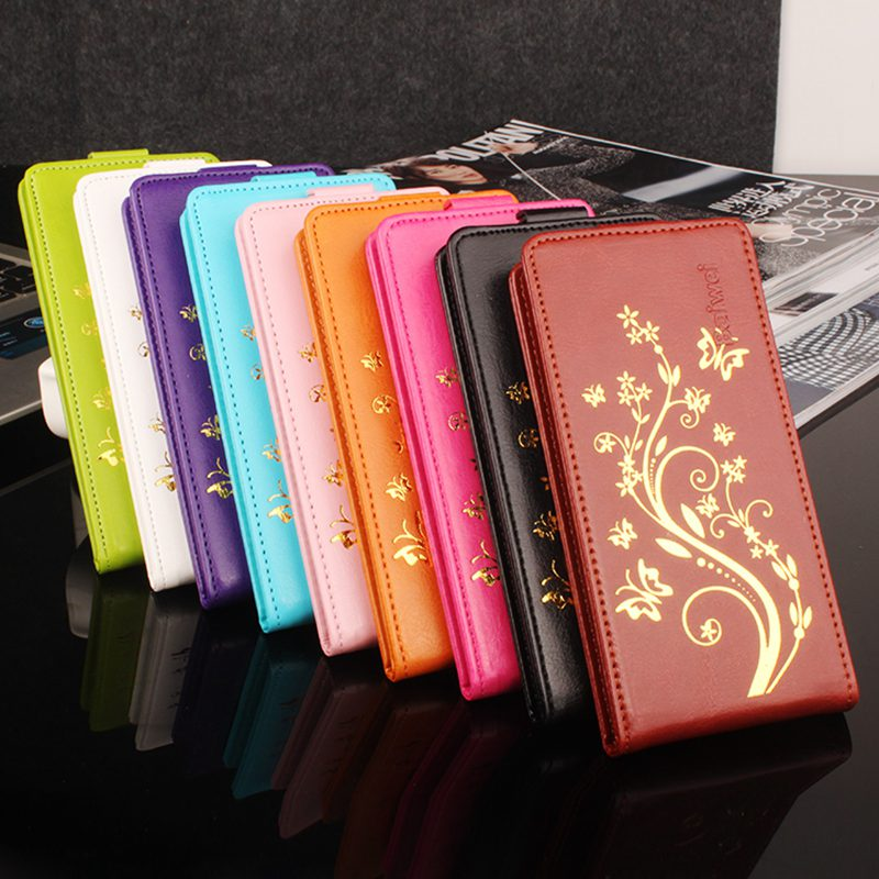Brand HongBaiwei Luxury PU Leather Case For Alcatel One Touch 5015D Pop 3 5.0 Case Flip Cover Painted Phone Protective Case 5015