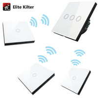 Elite Kilter Touch Switch EU UK Standard Panel Smart For Wall Light 3 Gang 4 Way