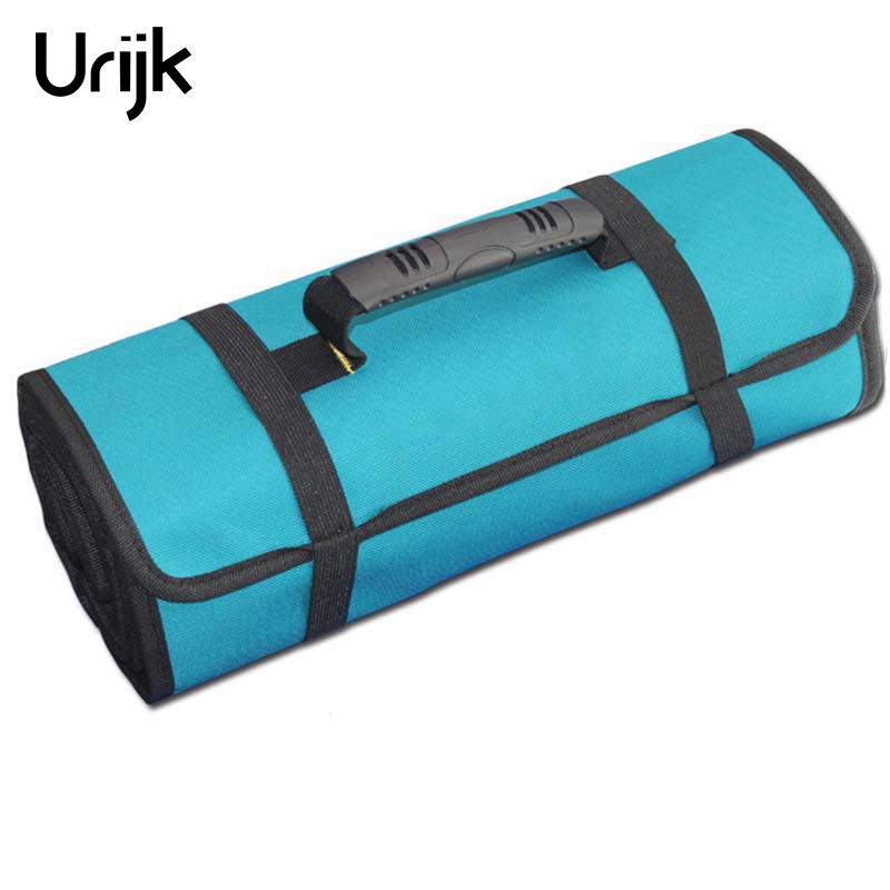 Urijk Roll-feed Portable 600D Oxford Fabric Canvas Tool Bag Storage Repairing Tool Screwdriver Plier Wrench Electrician Package laoa shoulders backpack tool bag multiction oxford fabric electrician bags knapsack for eletricista tools storage
