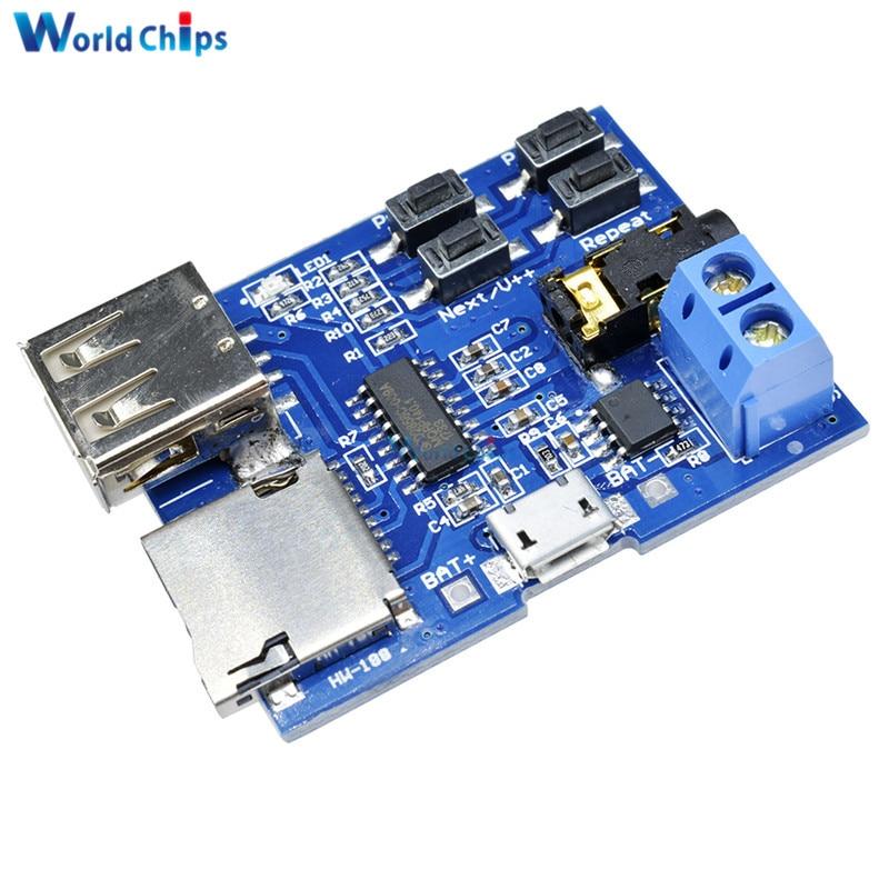 Micro USB MP3 Module TF Card U Disk MP3 Format Decoder Board Amplifier Decoding Audio Player Module 3.7-5.5V Hot Sale