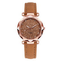 Leather Rhinestone Designer Ladies Watch