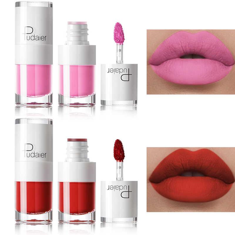 Pudaier humectante brillo de labios líquido mate lápiz labial resistente al agua maquillaje tatuaje de larga duración tinte de labios mate brillo de labios Plumper