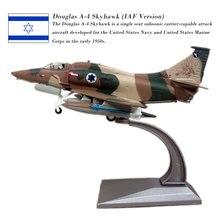 лучшая цена WLTK 1/72 Scale Military Model Toys IAF Douglas A-4 Skyhawk Fighter Diecast Metal Plane Model Toy For Collection,Gift,Kids