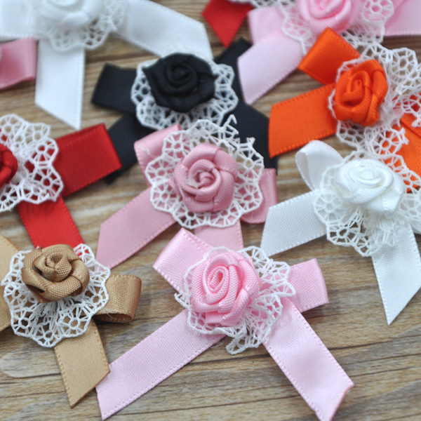24 pcs 40mm 35mm Mix Color Ribbon flowers DIY appliques Apparel Accessories  garment supplies A035-in Ribbons from Home   Garden on Aliexpress.com  82bb9175fc1b