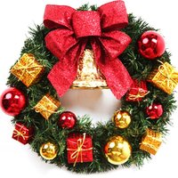 1pc custom made Christmas Wreath Door Decoration Artificial Foam Berry Wreath With Natural Pine Cone Pendant Wall Decor Wreath
