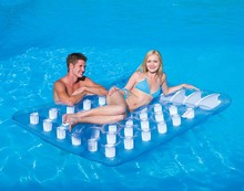 Kingtoy Double Floating Bed Inflatable Para Piletas Swim Sofa Cushion Water Bed Rafting Swimming