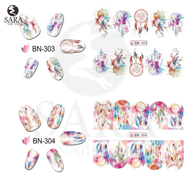NEW Mix Owl Dream Catcher Nail Art Water Decal Stickers