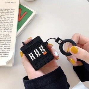 Image 5 - 3D携帯電話ソフトシリコンワイヤレス充電アップルairpods 1 2黒ピンクbluetoothヘッドセットボックス