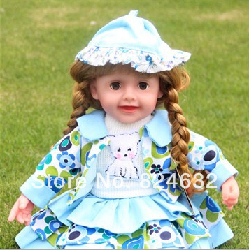 Nouveauté princesse Anna mignon bilingue intelligent dialogue poupée clignotant yeux anglais parlant poupée éducation jouets