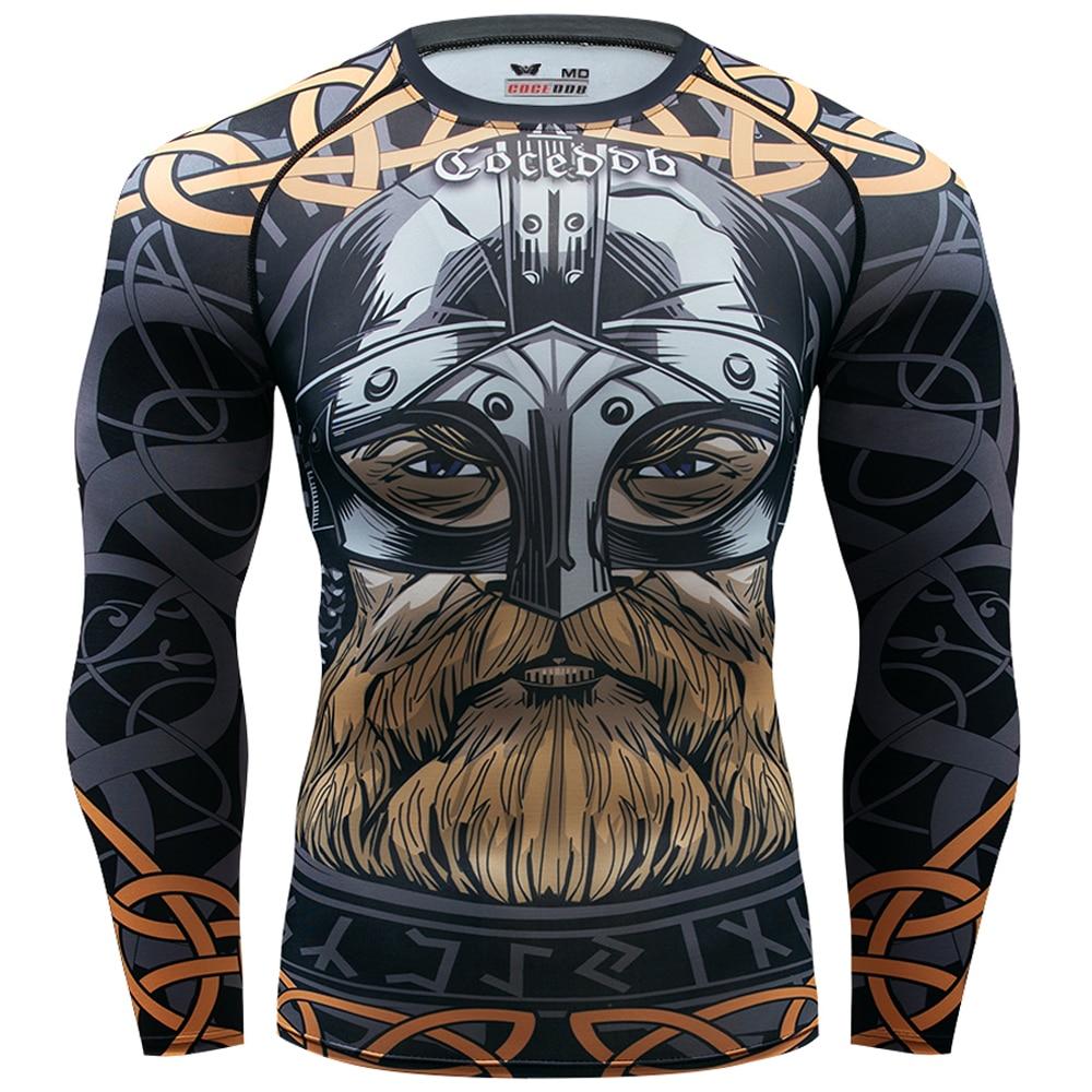 Hommes Compression chemises 3D jeu personnages collants à manches longues t-shirt MMA marque t-shirt mode hommes marvel t-shirt hauts crossfit
