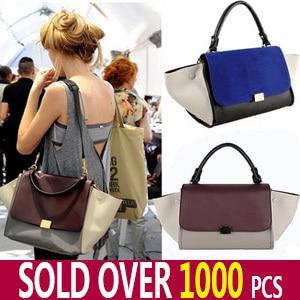 clearance designer handbags p5ys  Designer Inspire Fashion 2013 Big Ears Smiley Swing Women Tricolor  Celebrity Bag Discount Sale Promotional Unique Item *