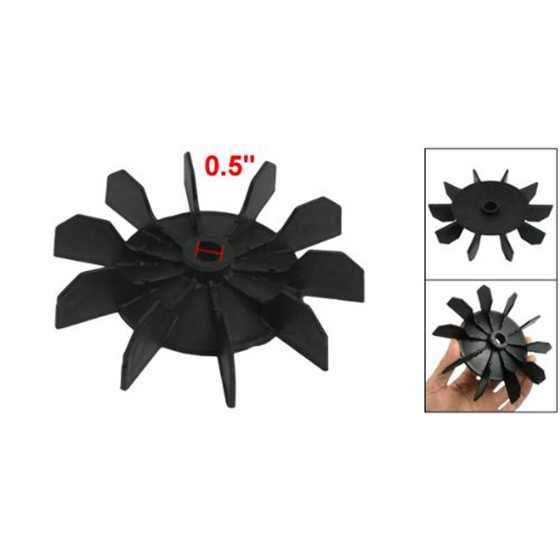 ¡Superventas! Recambio de 0,5 pulgadas de diámetro interior 10 impulsor compresor de aire Motor aspa de ventilador negro