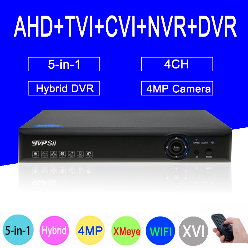 Blue-Ray XMeye Hi3521D 4MP Surveillance Camera 4CH 4 Channel WIFI Hybrid Coaxial 5 in 1 TVI CVI NVR AHD CCTV DVR FreeShipping мини печь clatronic mbg 3521
