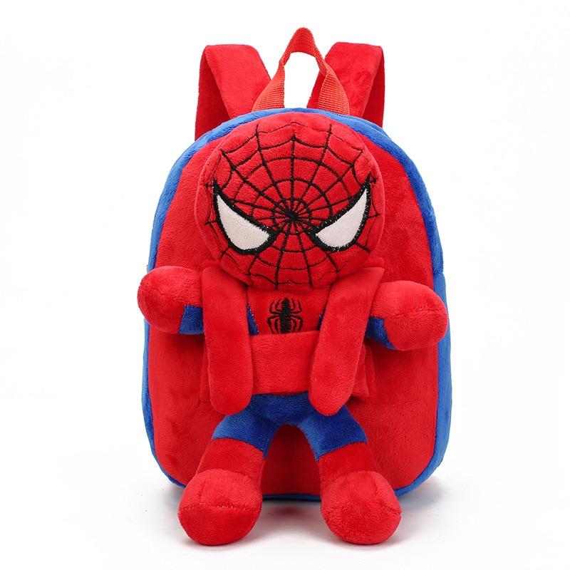 Kids Baby Bags Cartoon Doll Toy Children Shoulder Bag For Kindergarten Captain America Spiderman Plush Backpacks