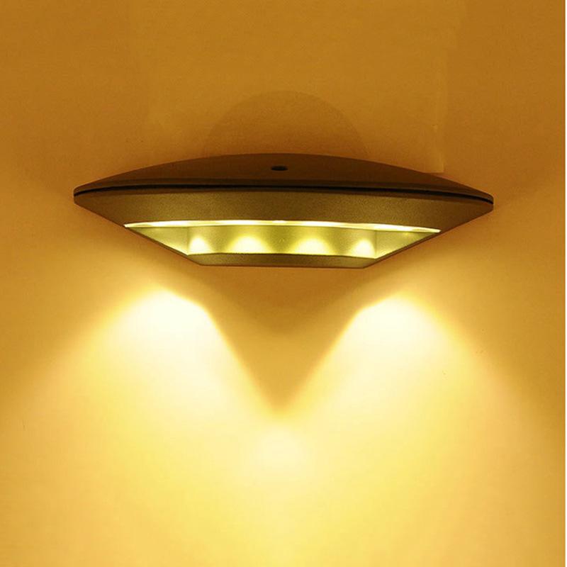 Ufo shaped led wall light ultra bright weatherproof indoor and outdoor lamp for room patio deck yard garden home hallway garage in wall lamps from lights