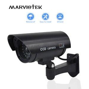 Image 1 - Manequim falso câmera externa de vigilância, bala à prova d água, interior de casa, vídeo cctv, câmera com pisca, vermelho, led
