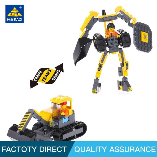 KAZI 8030 City Construction Digging Engineering Vehicles Trans Toys