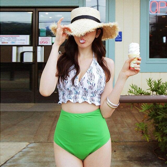 d5c33d5d7 Puede Playa de las mujeres Split femenino traje de baño para los adolescentes  erupción chicas traje