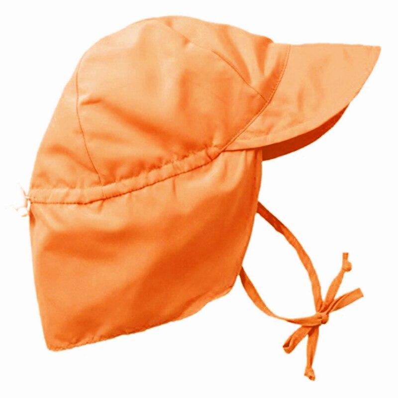 Карамельный цвет маленьких клапаном защиты от солнца Регулируемый шляпа летние для мальчиков девочек шляпа от солнца наружное Плавание шл...