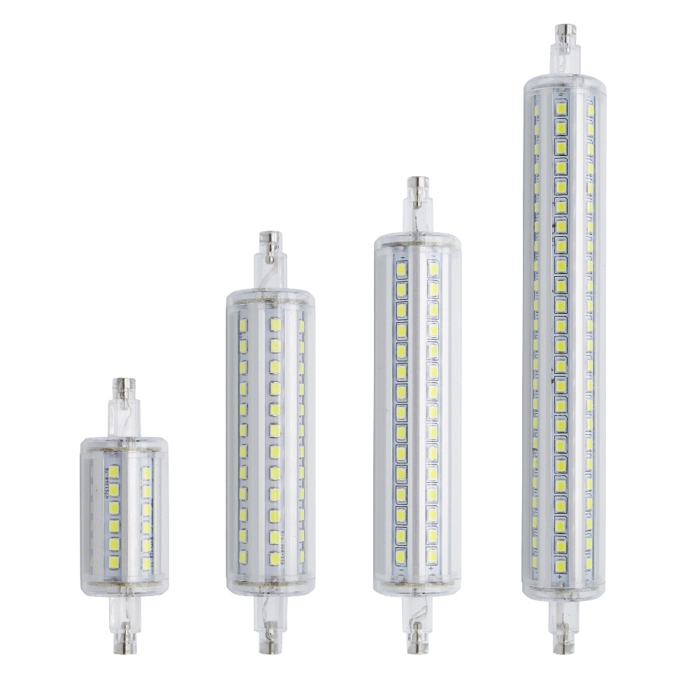 lamparas dimmable r7s led corn 78mm 118mm 135mm 189mm light 2835 smd bulb 7w 14w 20w 25w replace. Black Bedroom Furniture Sets. Home Design Ideas