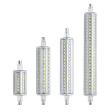 Lámparas LED regulables R7S, 78mm, 118mm, 135mm, 189mm, Bombilla SMD 2835, 7W, 14W, 20W, 25W, lámpara halógena de repuesto