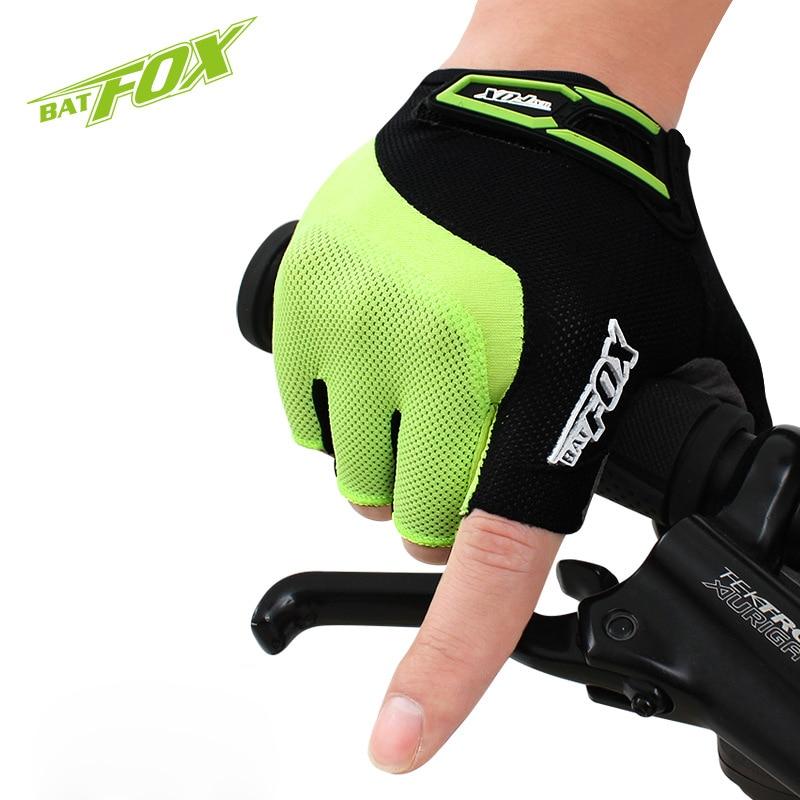 Prix pour BATFOX sport vtt vélo gants vélo gel demi doigt gants de vélo vélo gant accessoires pour hommes femmes
