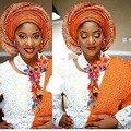 2016 Big traje africano Set jóias Crystal White contas conjunto de jóias nigeriano do casamento indiano colar nupcial Set jóias AIJ773