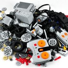 Технические детали, совместимые с Legoed, силовые функции, инструмент, балки, поперечные оси, стойки, панель, поезд, модель двигателя, наборы, строительные блоки, комплект