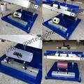 Superficie de la Pantalla Cilíndrica Manual de Máquinas de Impresión, máquina de impresión de pantalla redonda con la mano, impresora de la pantalla