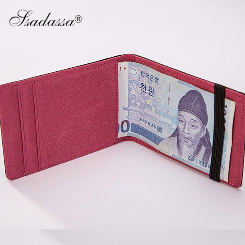 Koreanska Pengar Clip Wallet Elastic vintage plånbok mode nya 2018 - Plånböcker - Foto 3