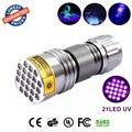 10 шт. 21 LED черный свет УФ 21LED УФ 395nm Ультрафиолетовый Фонарик для Кошачьей Мочи Детектор