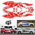 Venda quente 5 Cores de Corpo Inteiro Adesivo no Caso Lobo para Carros Acessórios Do Carro Decoração