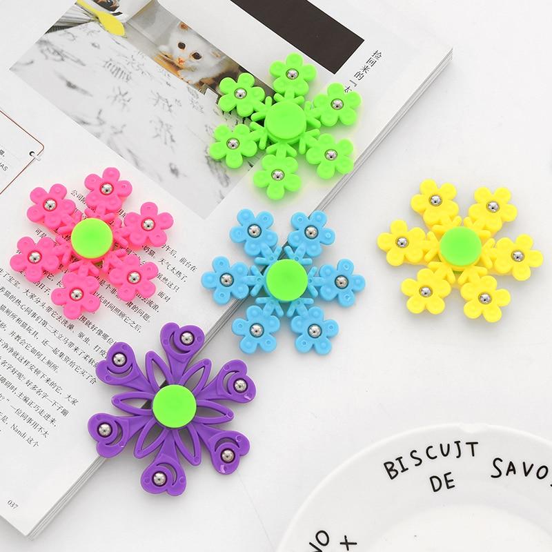 New Snowflake Fidget Spinner Hand Spinners Birthday Present Kids Christmas Gifts Finger Toys Spinners