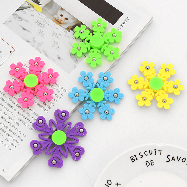 New Snowflake Fidget Spinner Hand Spinners Birthday Present Kids Gifts Finger Toys Spinners