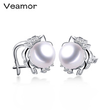 AAAA high quality pearl earrings High Luster Pearl jewelry Classic 925 silver earrings for women Party wedding earrings(China)