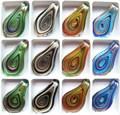 12pcs/lot New Fashion Unique Lampwork Murano Art Glass  Charms Pendant Necklace