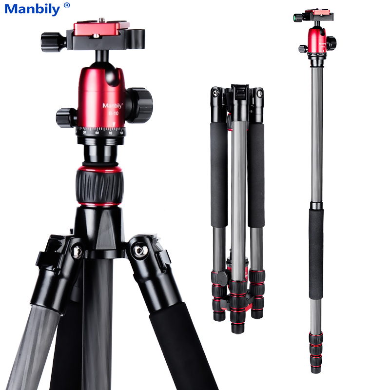 Manbily CZ-303 Pro Carbon Fiber Tripod for Digital Camera Tripod Suitable for travel Top Quality series camera stand 155cm max image