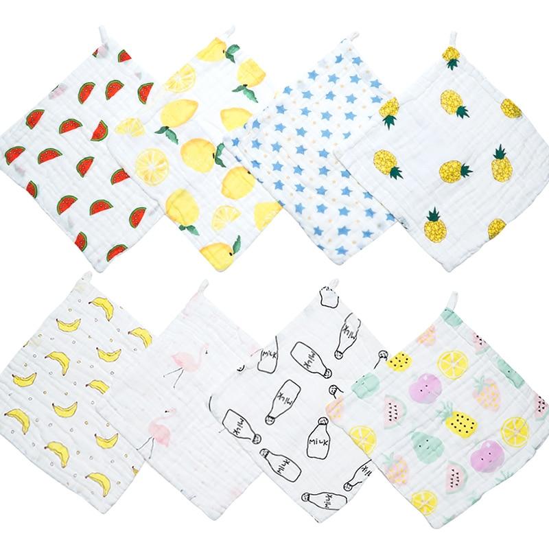 Muslinlife 6 Schichten Musselin Handtuch Taschentücher, Neugeborenen Baby Handtücher Pflege Platz Decke 28*28 Cm, Atmungsaktive Weichen Waschlappen Moderater Preis