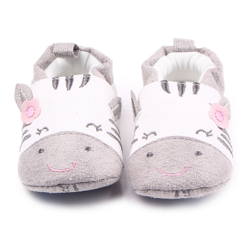 Baby Crib Shoes for Girls Child Cute Cartoon Animal Loafers Soft Sole Slip-on Newborn Slippers Infant Footwear Toddler Kid Flats