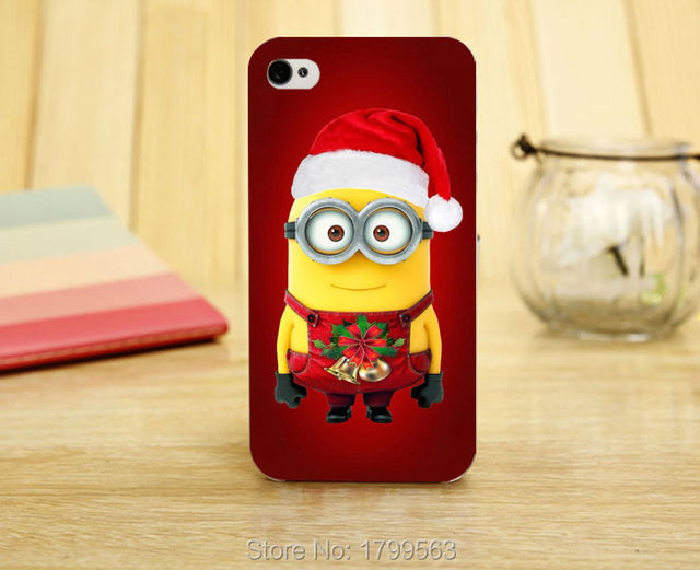 despicable me minions merry christmas happy new year soft silicon tpu skin case for iphone 5 - Merry Christmas Minions