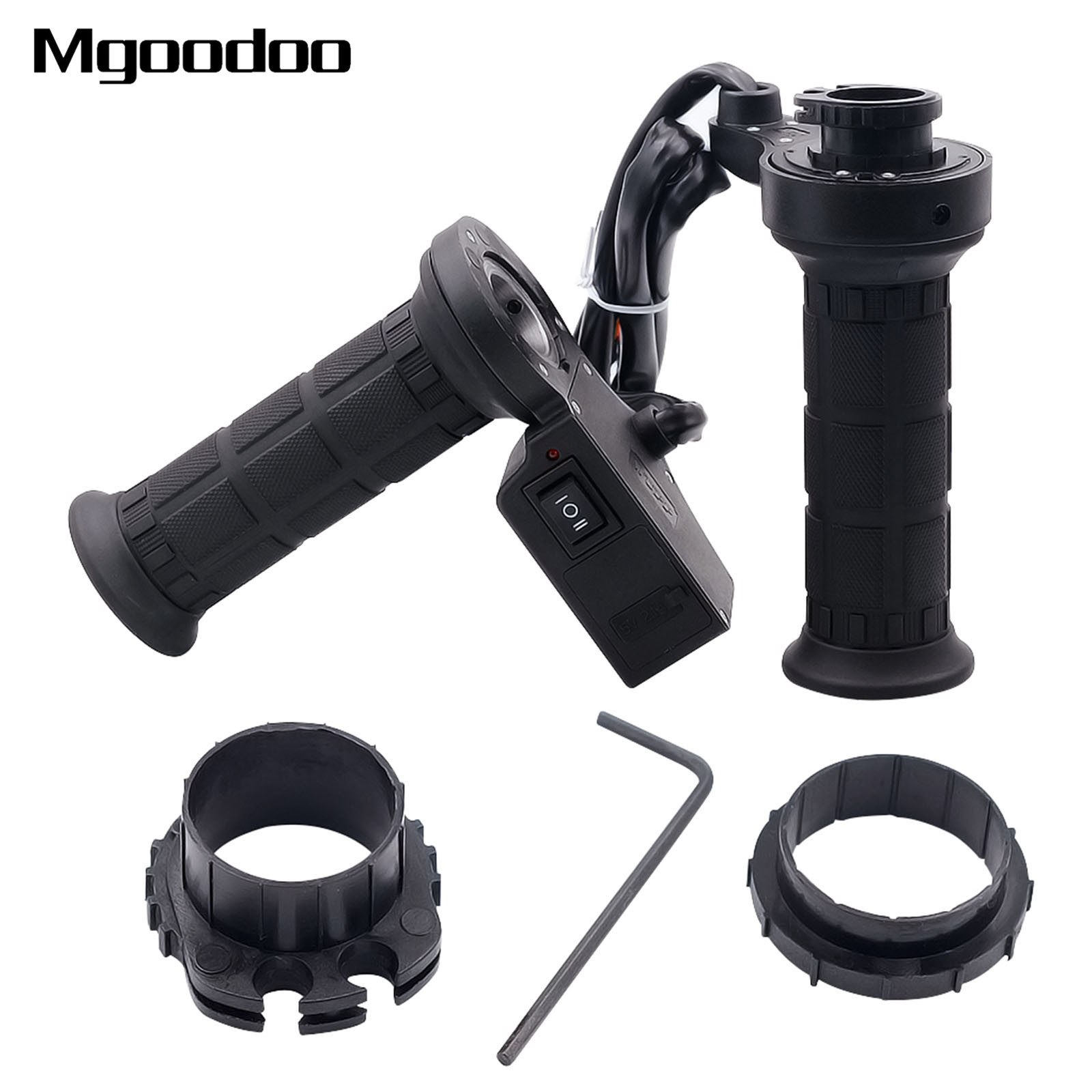 New 3 In 1 Motorcycle Handlebar Electric Hot Heated Grips Handle Handlebar Warmer Voltage USB Charger For ATV Motor Motocicleta